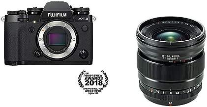 Fujifilm X-T3 Mirrorless Digital Camera (Body Only) - Black + Fujinon XF16mmF1.4 R WR