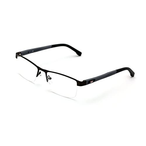 afc1db46b7a0 V.W.E. Men Half Rimless Rectangular Non-prescription Glasses Frame Clear  Lens Eyeglasses TR90