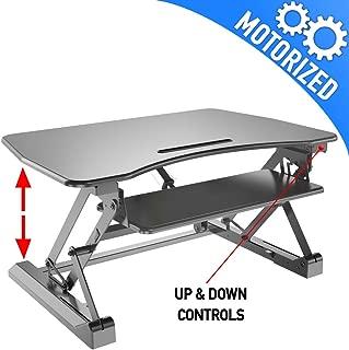 Motorized Standing Desk, Black - Aeon 80006