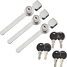 Glazen kast Lock Showcase Lock schuifdeur slot met 2 sleutels Display Case Lock 3 stuks voor deur beveiliging tellers, gla...