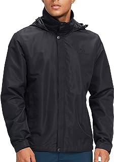 CAMEL CROWN Men's Waterproof Jackets Women's Hooded Raincoats Light Hiking Jacket Windbreaker Outwear for Unisex