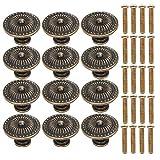 20pcs Pomos y Tiradores de Muebles 30mm Vintage Bronce Pomos para Puertas/Armarios de Cocina/Cajones de Comodas Antiguos (B)
