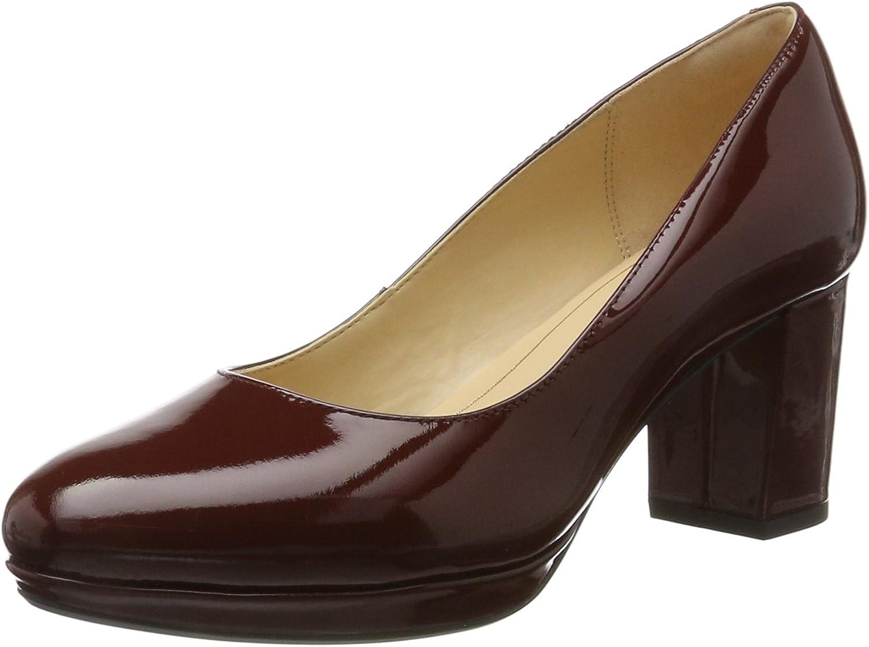 Clarks Kelda Hope - Rust Patent (Red) Womens Heels