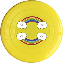 Rainbow Smiling Clouds Game Plastic Sport Flying Disk