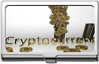 Business Card Holder,Money Bitcoin Wealth Business Card Holder Wallet Credit Card Id Case