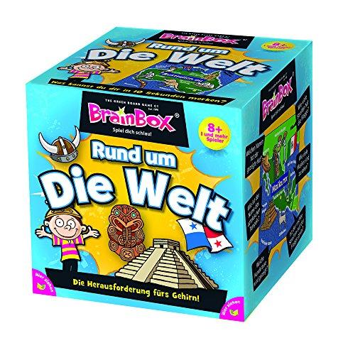 Brain 2094901 Box 94901 Rund um die Welt, Lernspiel, Quizspiel für Kinder ab 8 Jahren, weiß