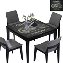 williamsdecor Born to Die Quote Square Tablecloths, Elastic on The Corner Polyester Square Tablecloth Waterproof Desk Table Cover, 35.5W x 35.5L Inches(Elastic Edge)