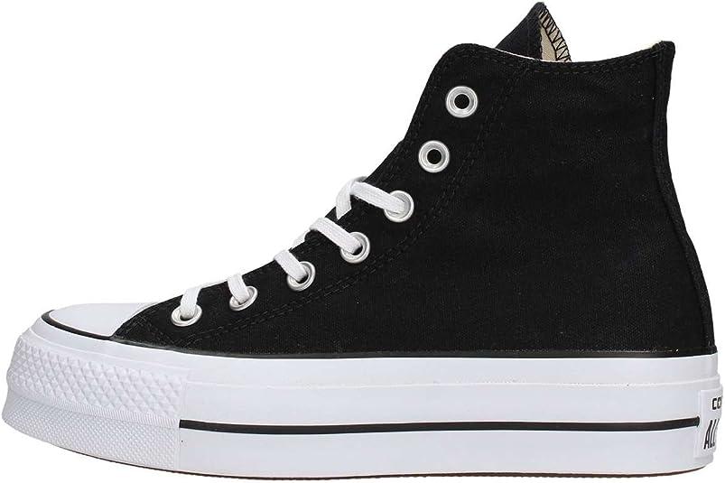 Converse Women's CTAS Lift Hi Black/White Sneaker