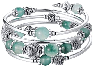 Beaded Chakra Bangle Turquoise Bracelet - Fashion Jewelry...