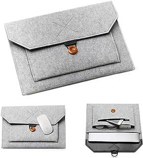 "Acoki 15-15.6"" Laptop Sleeve Felt Ultralight Notebook Tablet IPAD Case Multi-pocket Pouch Bag Briefcases for Apple Macbook..."