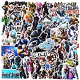 110 Pcs Game Stickers Pack for Fortnite, Aesthetic Waterproof Vinyl Stickers for Laptop Waterbottle Flasks Ps4 Xbox MacBook Copmputer Car Bike, Funny Decals Stickers Gfift for Kids Teens Boys Girls.