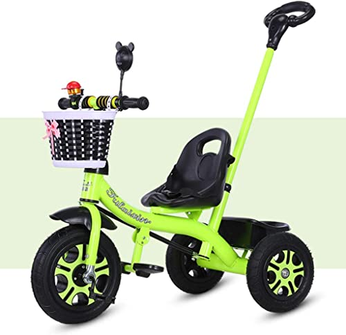 Para tu estilo de juego a los precios más baratos. Xhhxiao Bicicleta de Tres Ruedas for for for Niños, Bicicleta for Niños y niñas de 1-6 años,  Cinturon de Seguridad  Manillar Desmontable  Reposapiés Ajustable ( Color   verde , Talla   46cmx15cm x 45cm )  compra en línea hoy