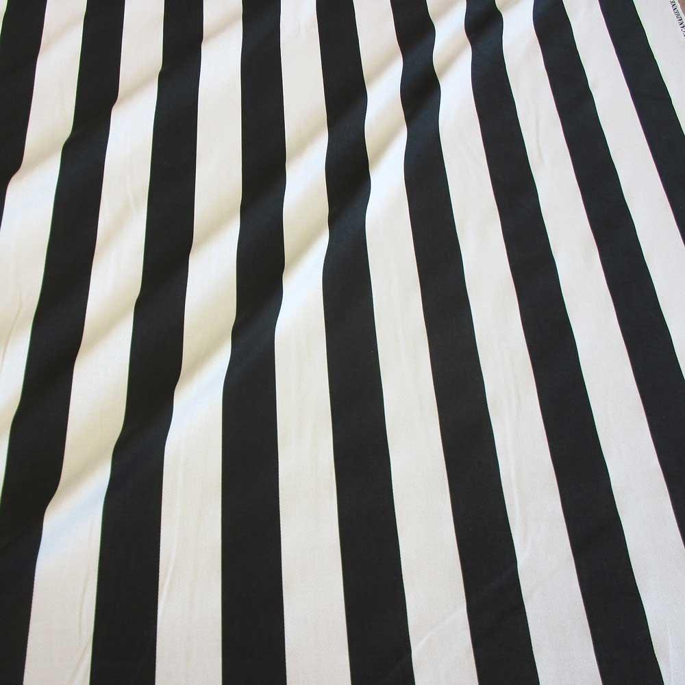 Tela tela de algodón metro rayas blanco y negro diseño de rayas ...