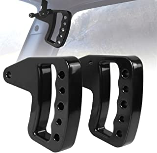 ICARS 2007-2018 JK JKU Jeep Wrangler New Style Aluminum Black Front Grab Handles for Unlimited Rubicon Sahara Accessories(Pair)