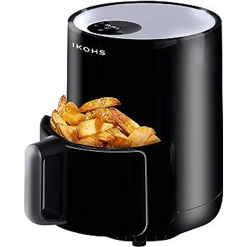 IKOHS IKOFRY Healthy Touch -Freidora sin Aceite, de Aire sin Aceite, Capacidad 1, 5 l, 900W, Cesta Antiadherente, selector de Temperatura 80-200°, Apagado automático, Libre de BPA, Programable, Negro: Amazon.es