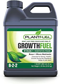 Plant Fuel Nutrients   GROWTH FUEL   Ultra-Premium Liquid Fertilizer for Soil, Hydroponic, and Other Grow Mediums. Formulated specifically for the Vegetative Growth Stage of your Plant. (Quart Size)
