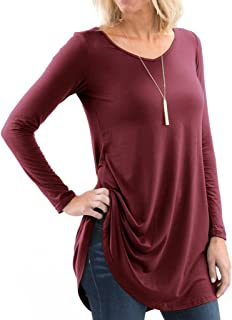 Women's Designer V-Neck Short & Long Sleeve Flare Tunic