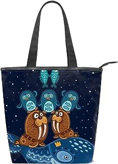 Women's Handbags Canvas Shoulder Bags Sunflower Luminous Handbag Retro Casual Tote Purses