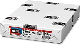 """ملصقات اليوم التالي، منتجات NCR، ورق مُجمع مسبقًا، 500 ورقة في كل عبوة (8-1/2"""" x 11"""" 3 أجزاء مستقيمة، 5909)"""