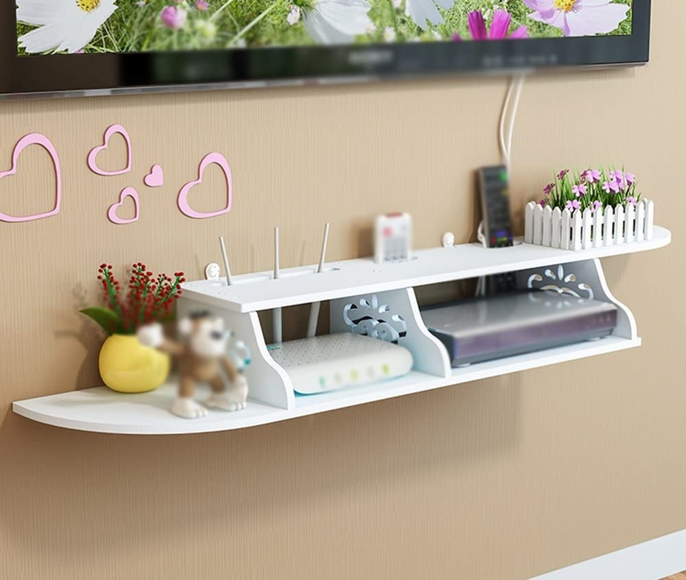 TV Set-top Box Rack Two Grid Punch Shelves S Control Ranking TOP5 Mail order cheap Free Remote
