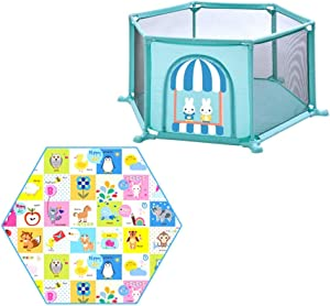 LHR888 Baby Playpen-Children Safety Fence Children s Play Fence Baby Play Fence Baby Crawling Mat Child Safety Fence Boy And Girl Safety Activities Home Play House Color