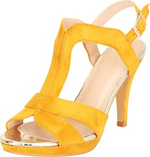 Women's Open Toe Strappy Cutout Slingback Platform High Heel Sandal