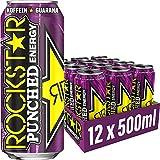 Rockstar Energy Drink Punched Guava - Exotisches, koffeinhaltiges Erfrischungsgetränk für den Energie Kick, EINWEG (12x 500ml)