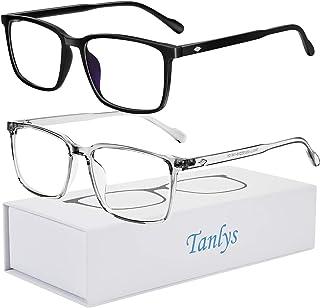 عینک مسدود کننده نور آبی Tanlys 2 Pack برای فشار چشم رایانه [خشکی چشم