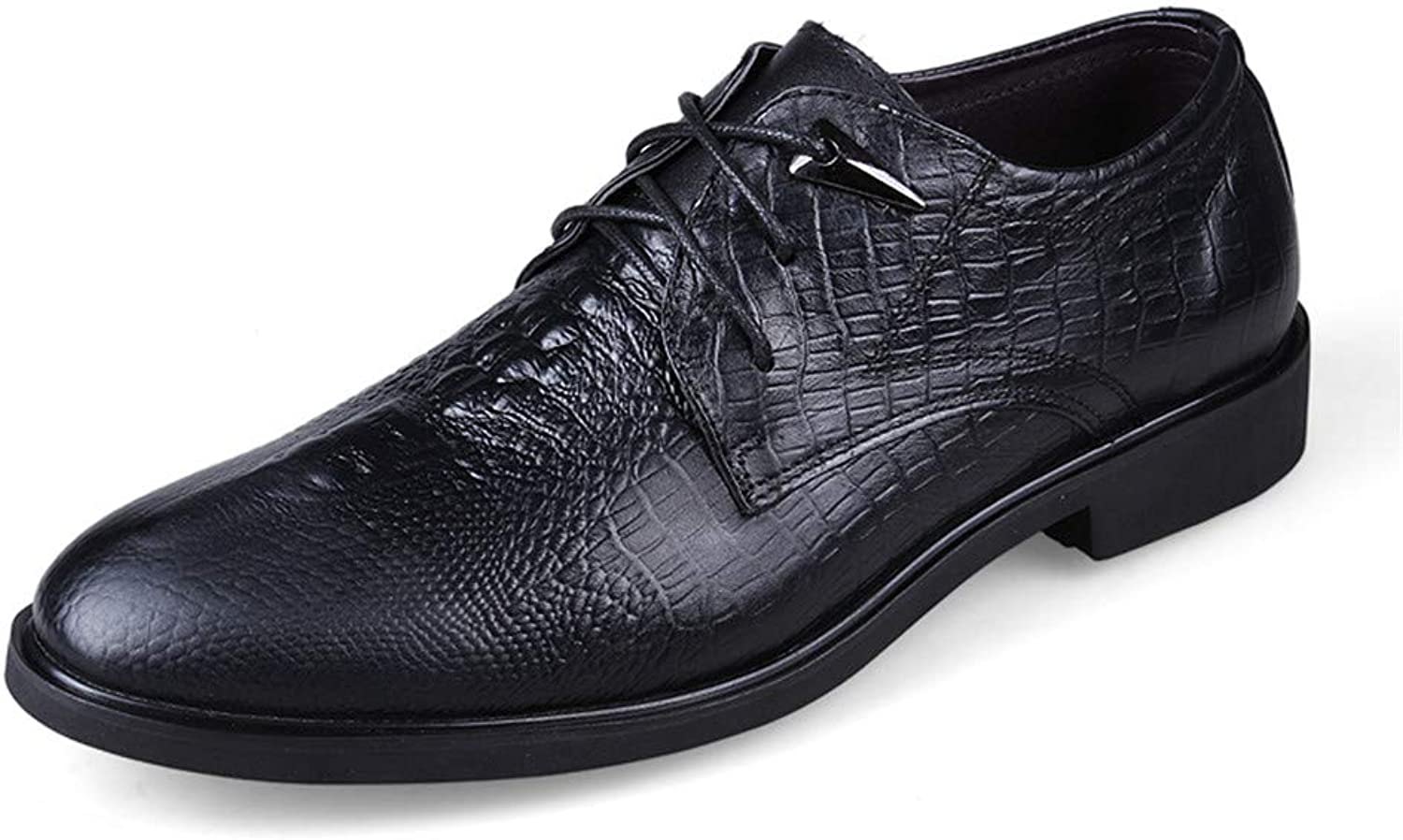 Men's Business Oxford shoes, Casual Simple Classic Crocodile Round Toe Formal shoes