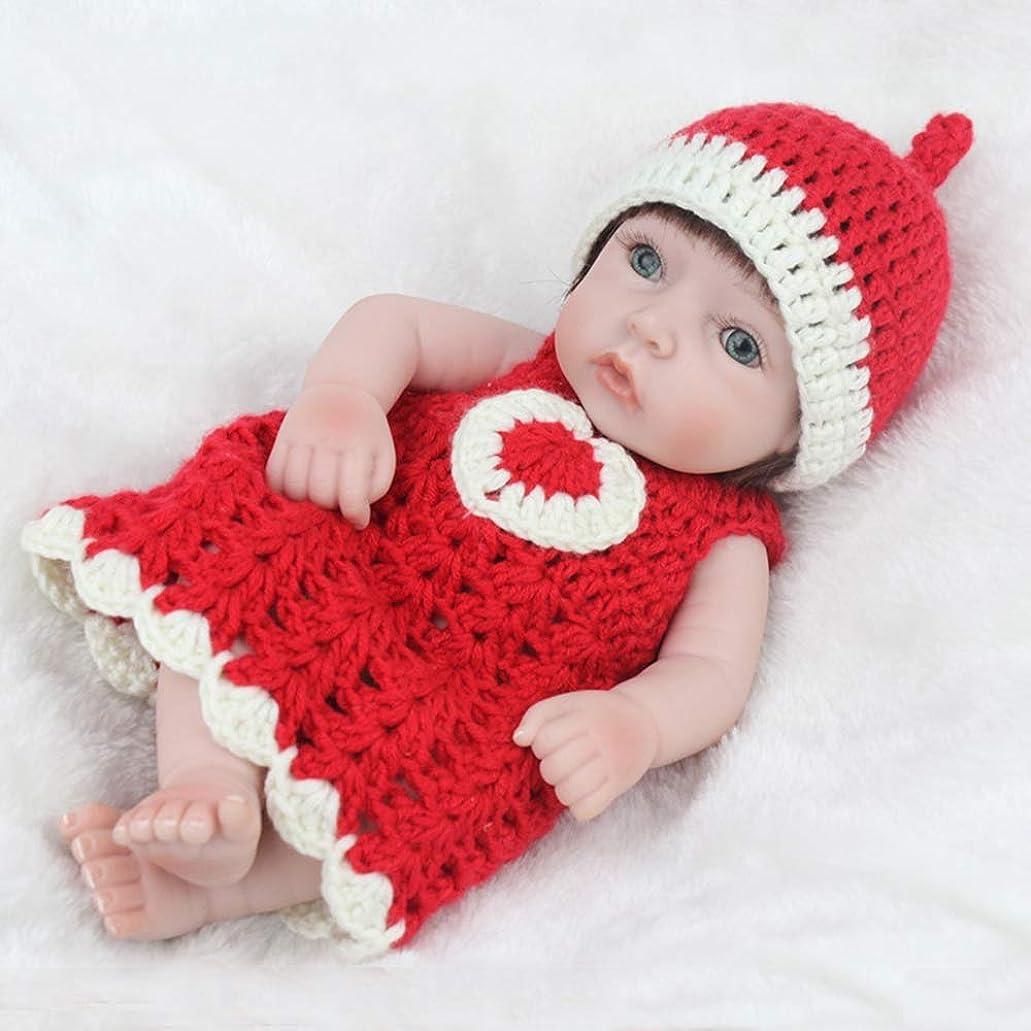 シャッター縮約構造生まれ変わった赤ちゃんミニ人形生まれ変わったシリコーン生まれ変わった赤ちゃん女の子のおもちゃ子供のための3年生きている赤ちゃんリアルな人形のおもちゃギフト