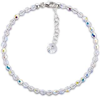 Collana realizzata con SWAROVSKI ELEMENTS Perline di cristallo base in cristallo Aurora Boreale colore