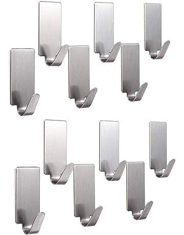 Black+White Utility Wall Hooks,Key Holder for Wall,Multifunctional Hook,Wall Key Hooks Holder for Home Kitchen Bathroom Office 10PCS,Sticky Hook