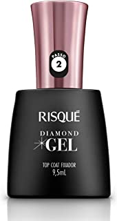 Risqué Top Coat Fixador Diamond Gel Cremoso - 9, 5 ml