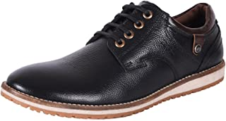 Bacca Bucci Men Genuine Leather risley Derby Classic Shoes-Black