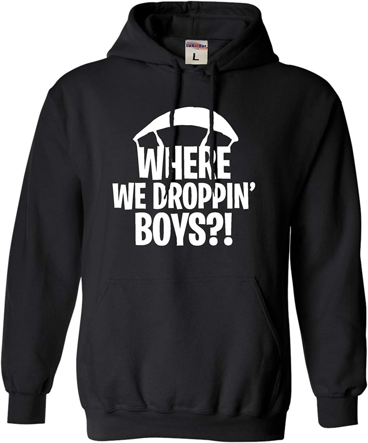 Go All Out Adult and Youth Where We Dropping Boys Sweatshirt Hoo