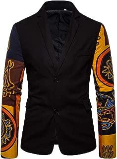 Blazer Mens Casual Vintage Ethnic Printed Dress Floral Suit Grey Hoodie Slim Fit Blazer Jacket