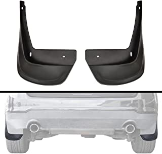 BDK Baseline Splash Guards - Pair (2pc Set) - All Weather Series Mud Flaps - Universal Fit Plastic Composite