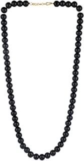 Efulgenz Handcrafted Red Crystal/Glass Stone Classic Round Beaded Strand Necklace Fashion Accessories for Women and Girls