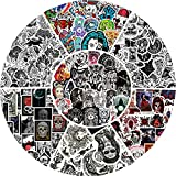 350 PCS Gothic Stickers for Adults Teens Girls, Black White Colorful Demon Graffiti Patch Decal Horror Skeleton Anime Goth Stickers Laptop Luggage Car Bike Water Bottles Waterproof Stickers...