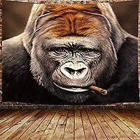 JOOCAR 面白いタペストリー、ヒッピークールなオランウータン喫煙葉巻壁掛け居間の寝室の寮の家の装飾の芸術のタペストリー