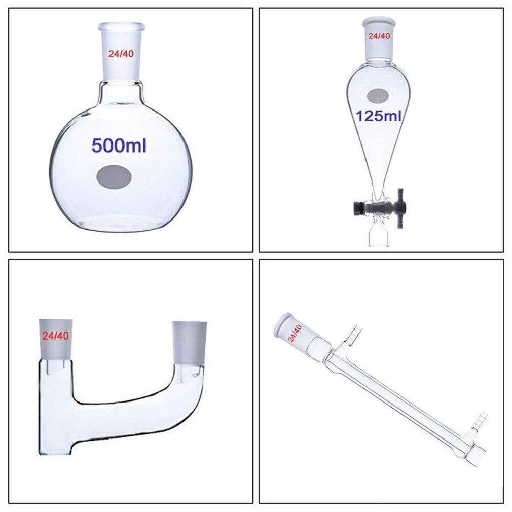 CHQYY Equipo químico - Purificador Separador de investigación y Equipo de destilación de Vidrio de Embudo Separador ...