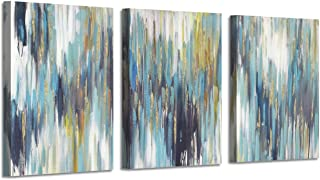 Abstract Canvas Paintings Wall Art: Abstract Pictures Print on Canvas for Office Bedrooms (12''X16''x3panels)