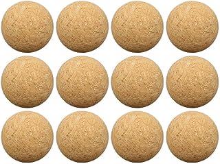 Brownrolly Bolas de reemplazo de futbolín de futbolín de Deportes, 12 Paquetes de Bolas de Juegos de Mesa de Corcho, 36 mm de Madera de Escritorio de Madera