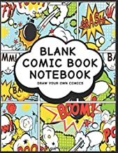 Blank Comic Book Notebook: Action Design - Create Your Own Comic Book Strips, Variety of Templates For Comic Book Drawing