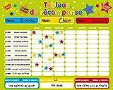 Fridgemagic Récompense magnétique / Star / Tableau des responsabilités / de comportement pour jusqu'à 3 Enfants. Planche Rigide de 16 'x 13' (40 x 32cm) avec Boucle de Suspension
