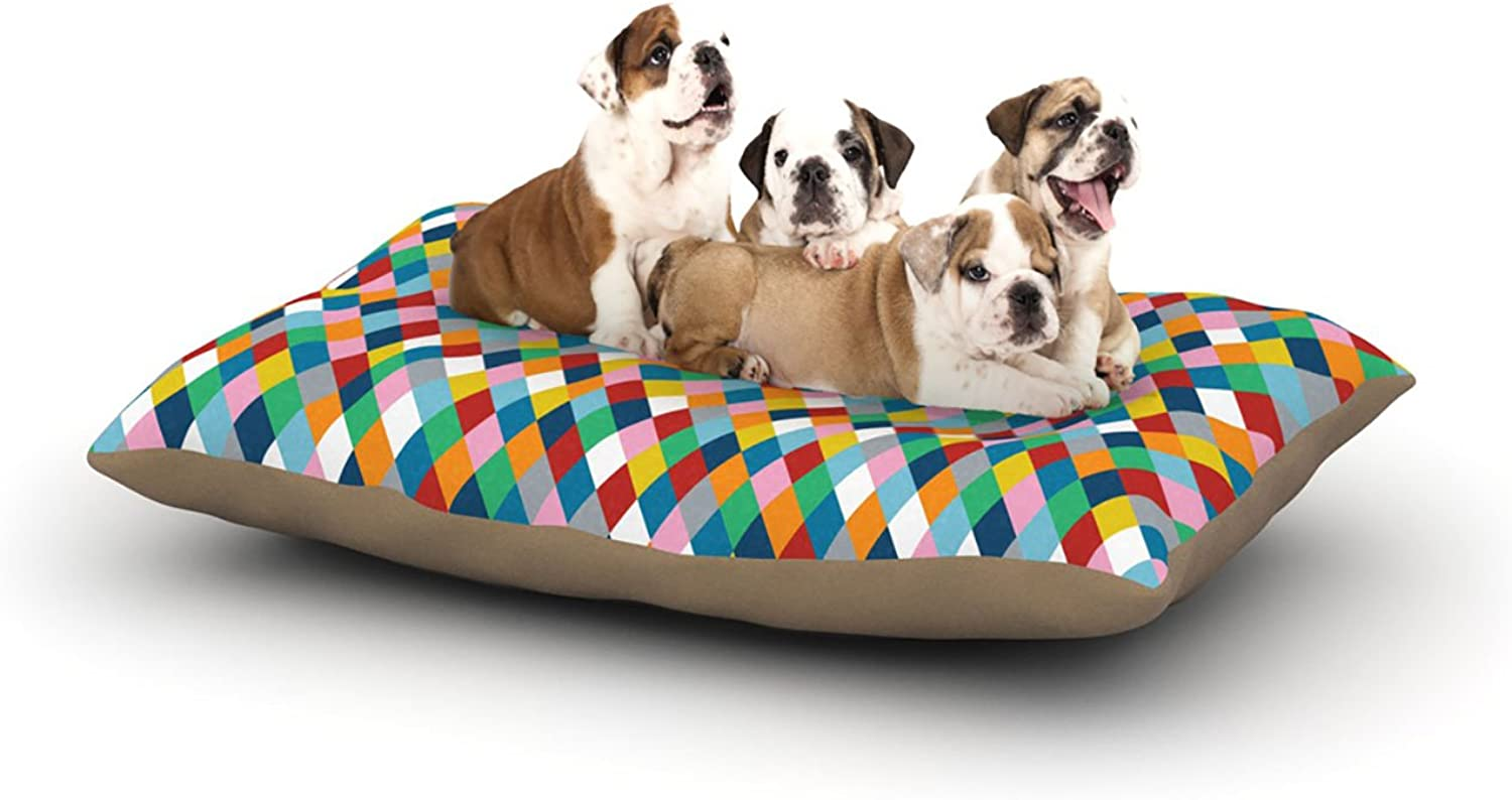 Kess InHouse Project M Harlequin  Dog Bed, 30 by 40Inch