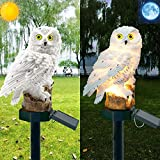 GUAGLL Owl Solar LED Lights,Garden Solar Lights Ground Light Outdoor Decorative with Garden Lawn Decorations Lamp