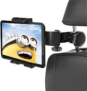 タブレットホルダー 後部座席用 車載ホルダー ヘッドレスト 360度回転式 4-11インチ iPad Tablet用スタンド iPhone Samsung Galaxy iPad 2/3/4/mini/air Galaxy Tab/Google Nexusn等対応など多機種対応 24ヶ月保証
