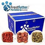 Dauerbrenner Paket 24 Kg tiefgekühltes Frostfutter für Hunde besteht aus Grüner Pansen, Blättermagen, Huhn-Rind Mix, Huhn (gewolft), Powermix, Pansen-Euter-Mix, Pansenmix, Rindermix & Gulasch vom Rind