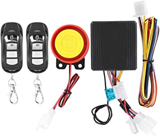 Motorcycle burglar alarm, 12V Universal Motorcycle Wireless Anti-theft Security Alarm System with 2 Remote Control